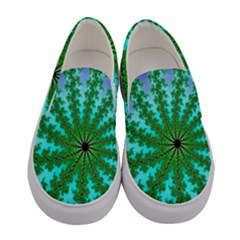 Fractal Abstract Rendering Women s Canvas Slip Ons