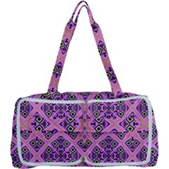 Seamless Wallpaper Geometric Pink Multi Function Bag