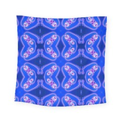 Seamless Fractal Blue Wallpaper Square Tapestry (small) by Pakrebo
