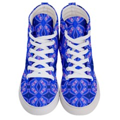 Seamless Fractal Blue Wallpaper Men s Hi Top Skate Sneakers