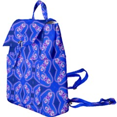 Seamless Fractal Blue Wallpaper Buckle Everyday Backpack