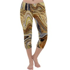 Abstract Acrylic Art Artwork Capri Yoga Leggings
