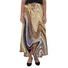 Abstract Acrylic Art Artwork Flared Maxi Skirt