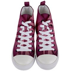 Background Pink Pattern Women s Mid Top Canvas Sneakers
