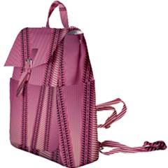 Background Pink Pattern Buckle Everyday Backpack