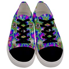 Fractals Abstraction Space Men s Low Top Canvas Sneakers