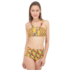 Tropical Pineapples  Cage Up Bikini Set by VeataAtticus