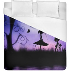 Cute Fairy Dancing In The Night Duvet Cover (king Size) by FantasyWorld7