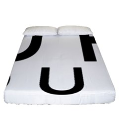 Uh Duh Fitted Sheet (queen Size) by FattysMerch