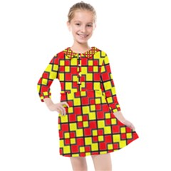 Rby-2-2 Kids  Quarter Sleeve Shirt Dress by ArtworkByPatrick