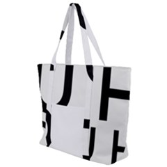 Uh Duh Zip Up Canvas Bag by FattysMerch