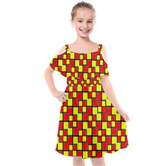Rby-2-2 Kids  Cut Out Shoulders Chiffon Dress