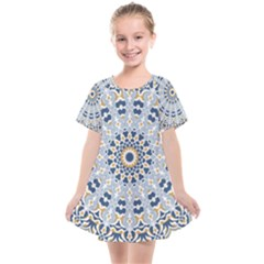 Arabesque Mandala Decorative Kids  Smock Dress by Pakrebo