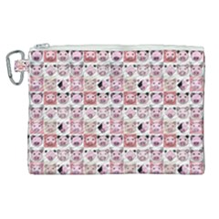Graphic Seamless Pattern Pig Canvas Cosmetic Bag (xl)