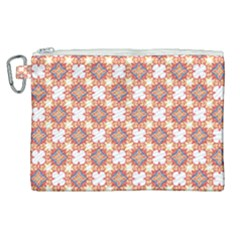 Pattern Flowers Flower Pattern Canvas Cosmetic Bag (xl) by Pakrebo