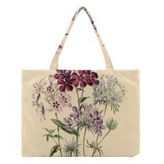 Botanical Print Antique Flora Plant Medium Tote Bag by Pakrebo
