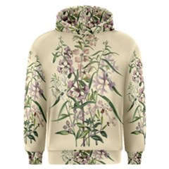 Botanical Print Antique Natural Men s Overhead Hoodie