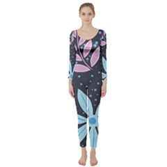 Pattern Nature Color Banner Modern Long Sleeve Catsuit