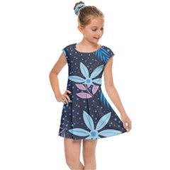 Pattern Nature Color Banner Modern Kids  Cap Sleeve Dress
