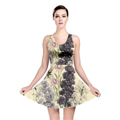 Botanical Print Antique Floral Reversible Skater Dress