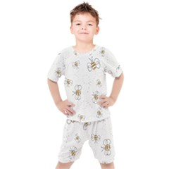 Pattern Design Nature Art Drawing Kids  Tee And Shorts Set