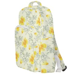 Floral Background Scrapbooking Yellow Double Compartment Backpack by Pakrebo