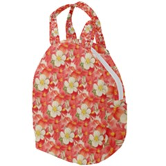 Background Images Floral Pattern Red White Travel Backpacks