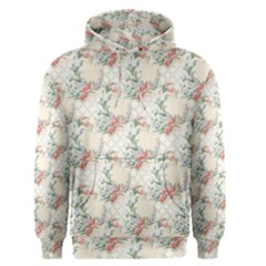Floral Pattern Scrapbook Decorative Men s Pullover Hoodie