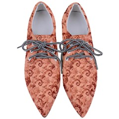 Vintage Seamless Decorative Pointed Oxford Shoes