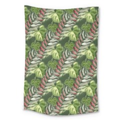 Leaves Seamless Pattern Design Large Tapestry