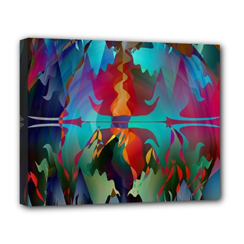 Background Sci Fi Fantasy Colorful Deluxe Canvas 20  X 16  (stretched) by Pakrebo