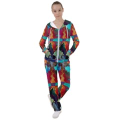 Background Sci Fi Fantasy Colorful Women s Tracksuit
