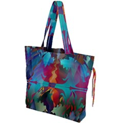 Background Sci Fi Fantasy Colorful Drawstring Tote Bag