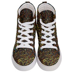 Flames Pattern Texture Gold Men s Hi Top Skate Sneakers