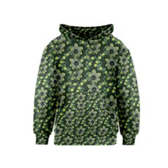 Abstract Pattern Flower Leaf Kids  Pullover Hoodie by Pakrebo