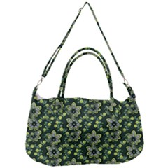 Abstract Pattern Flower Leaf Removal Strap Handbag