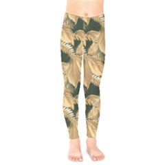 Scrapbook Leaves Decorative Kids  Legging
