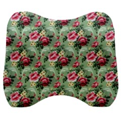 Floral Pattern Ornate Decorative Velour Head Support Cushion