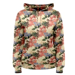 Flower Floral Decoration Pattern Women s Pullover Hoodie by Pakrebo