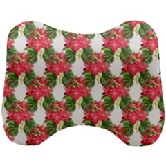 Floral Seamless Decorative Spring Head Support Cushion by Pakrebo