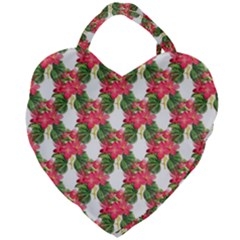 Floral Seamless Decorative Spring Giant Heart Shaped Tote