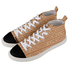 Background Non Seamless Pattern Brown Men s Mid-top Canvas Sneakers by Pakrebo