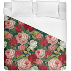 Roses Repeat Floral Bouquet Duvet Cover (king Size)