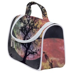 Full Moon Silhouette Tree Night Satchel Handbag by Pakrebo