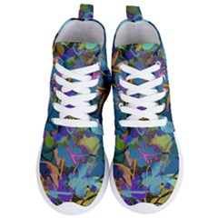 Flowers Abstract Branches Women s Lightweight High Top Sneakers