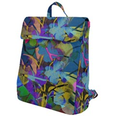 Flowers Abstract Branches Flap Top Backpack by Pakrebo