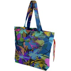 Flowers Abstract Branches Drawstring Tote Bag