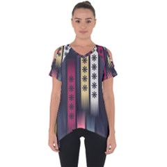 Non Seamless Pattern Background Cut Out Side Drop Tee