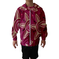 Background Non Seamless Pattern Art Kids  Hooded Windbreaker