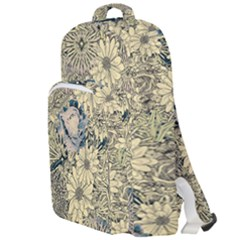 Abstract Art Artistic Botanical Double Compartment Backpack